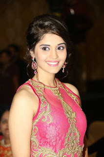 Actress Surabhi Picture in Long Dress at uva Audio Launch  4