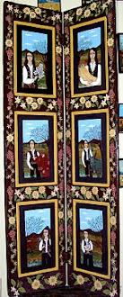 Δίφυλλη πόρτα με έξι θέματα