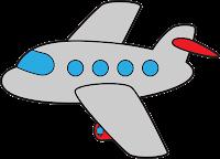Clip Art Airplane Cute transport clip art.