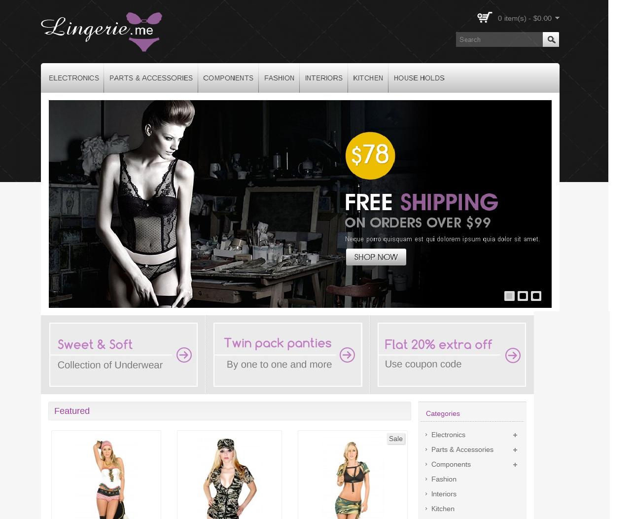 thiết kế web đồ lót chuyên nghiệp