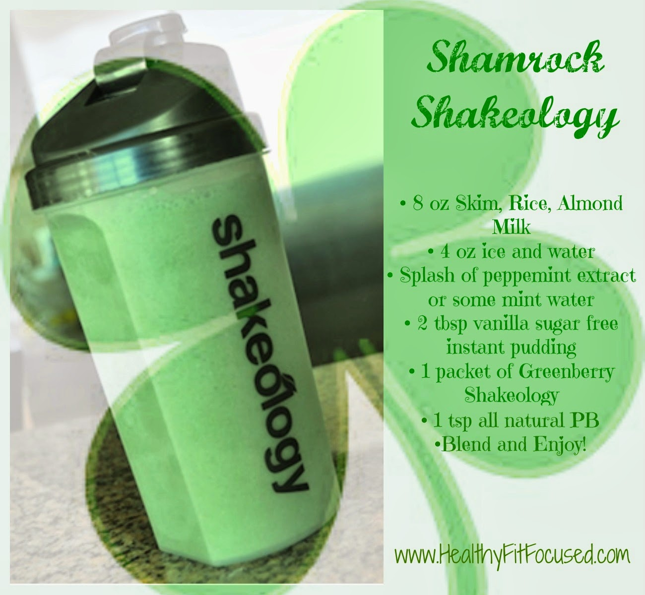 Shamrock Shakeology Recipe, Healthy Shake