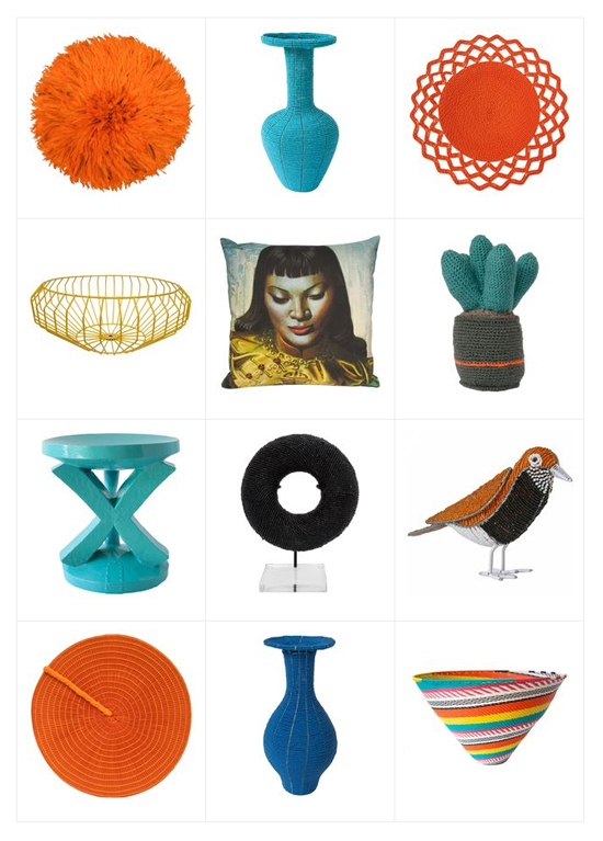 Safari Fusion blog | Cape Eclectic in store now! | New arrivals in the Safari Fusion online store | African cushions, stools, vases, animal heads, crochet cactus & telephone wire bowls