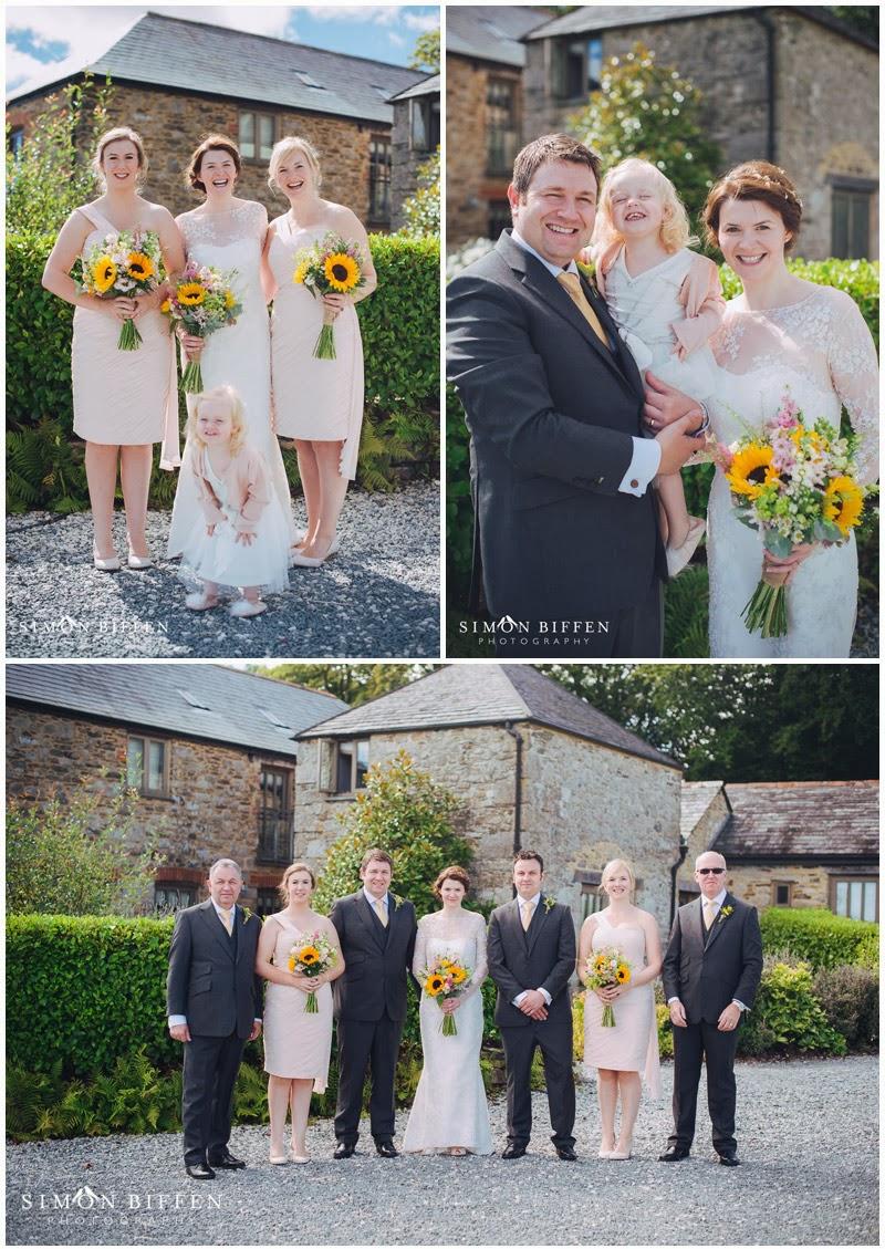 Wedding bridal party Trevenna Cornwall