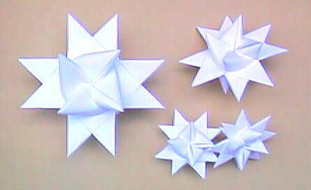 Звезды из бумаги фото схемы