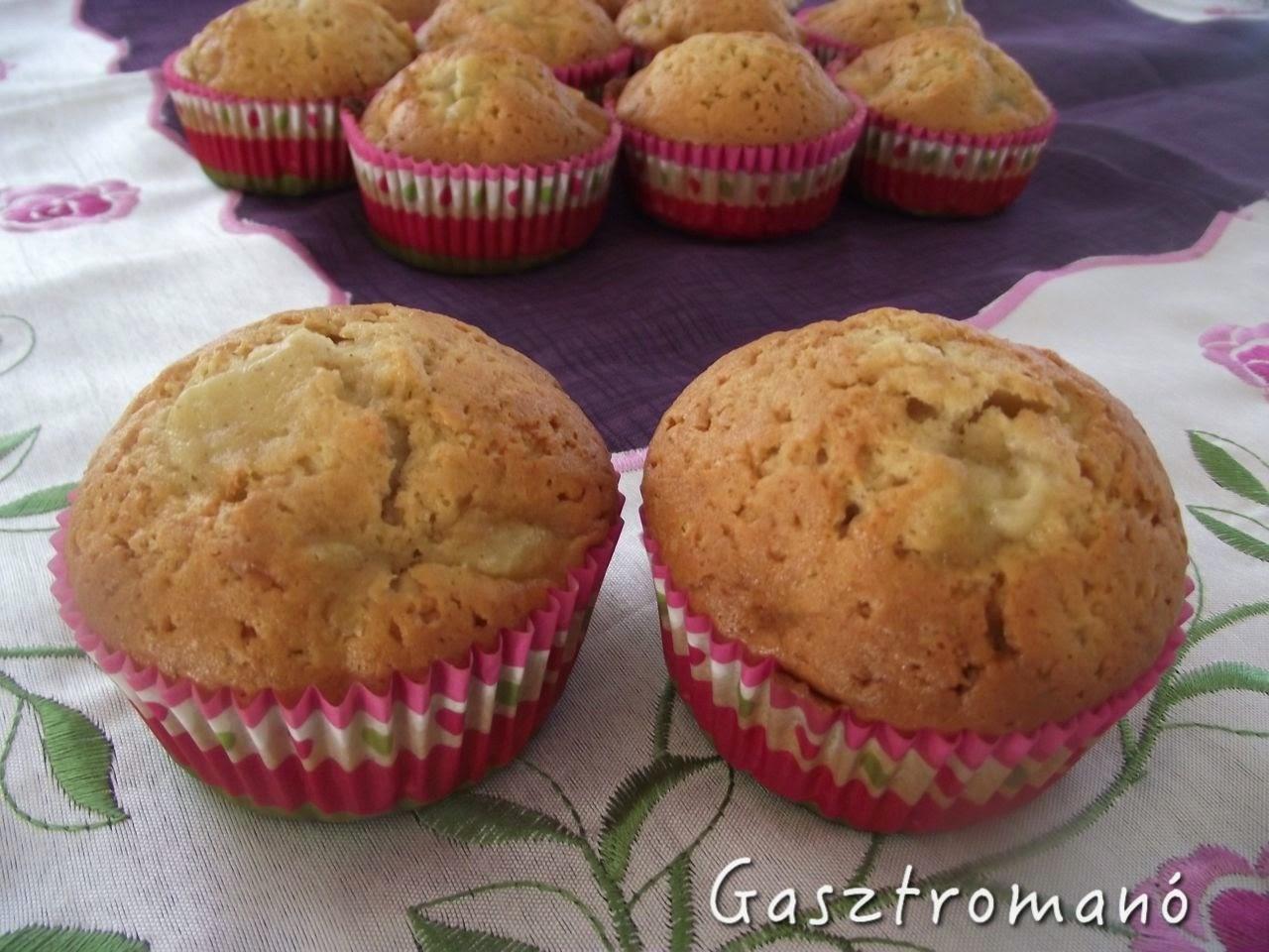 mézes körtés muffin recept