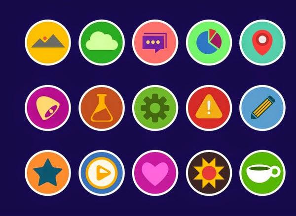 Krispicons – Flat Icons PSD