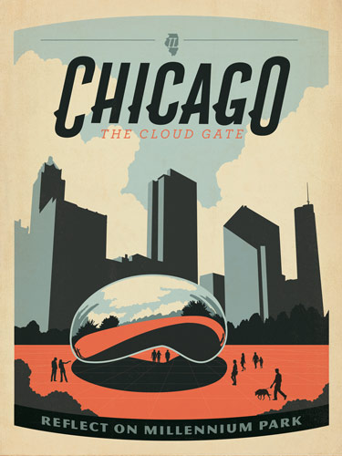They've got a classic mid-century travel poster look and the cream paper  even makes them look a little aged.