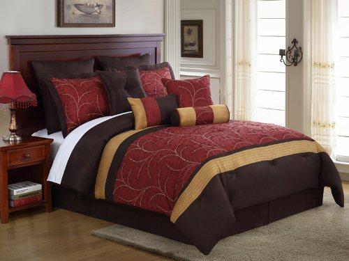 Burgundy Comforter & Bedding Sets on burgundy bedroom designs, burgundy kitchen decorating, french themed bedroom ideas for decorating, burgundy and cream bedrooms,