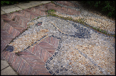 Sausage Dog mosaic garden path
