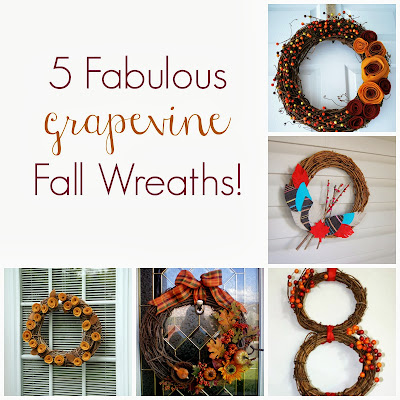 5 Fabulous Grapevine Fall Wreaths at It's Always Ruetten