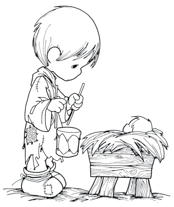 Riscos da aninha 12 01 11 for Precious moments baby coloring pages