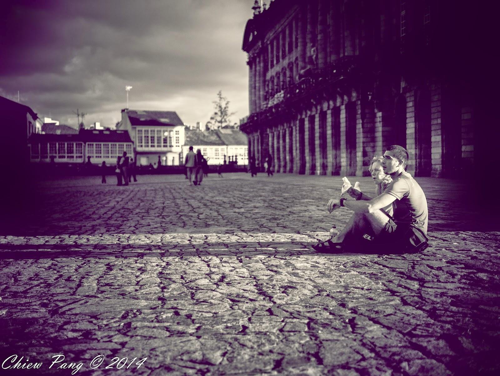Street photography in Santiago de Compostela, Spain