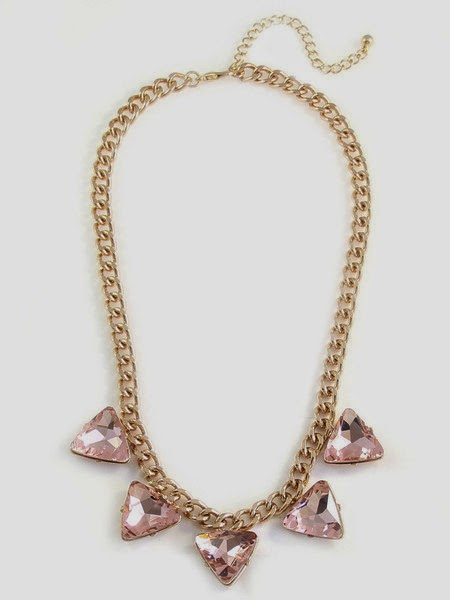 Just J: Olive+Piper blush arizona triad strand necklace
