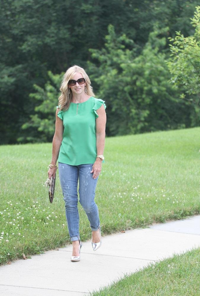 green-silk-flutter-jcrew-stuart-weitzman-metallic-pumps-hobo-clutch-simply-lulu-style