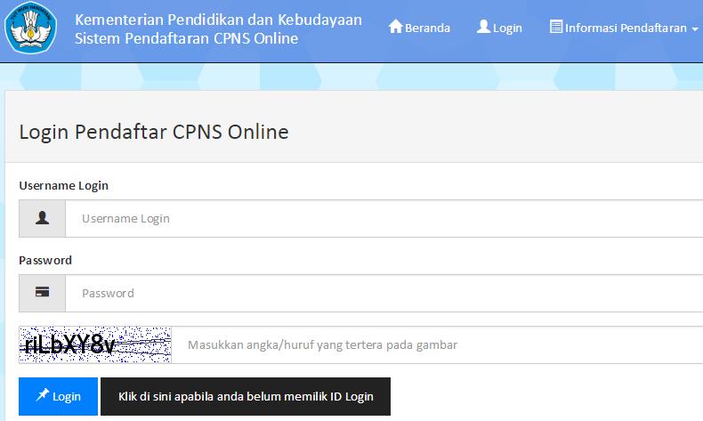 Registrasi Pendaftaran CPNS Online Kemdikbud Tahun 2014