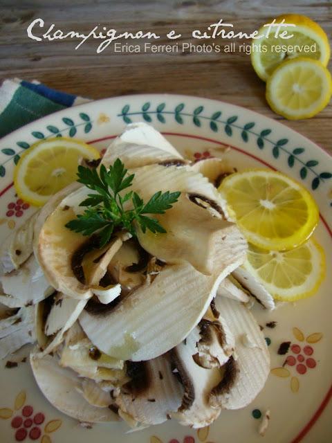 Insalata di champignon e limone