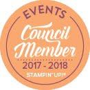 Ik mag me anderhalf jaar lang 'Events Council Member' voor Stampin' Up! noemen!