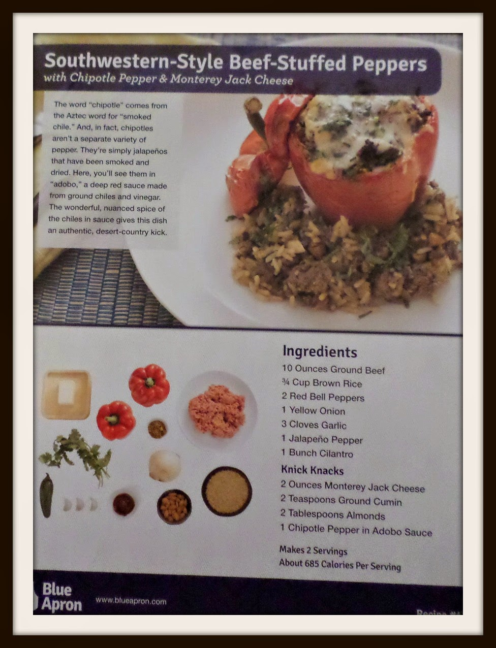 Blue apron yellow grits - Southwestern Style Beef Stuffed Peppers Sounds Like A Winner We Ve Had Previous Stuffed Red Pepper Recipes And Really Enjoyed Them