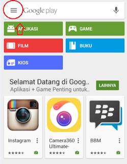 cara memperbaharui aplikasi di android