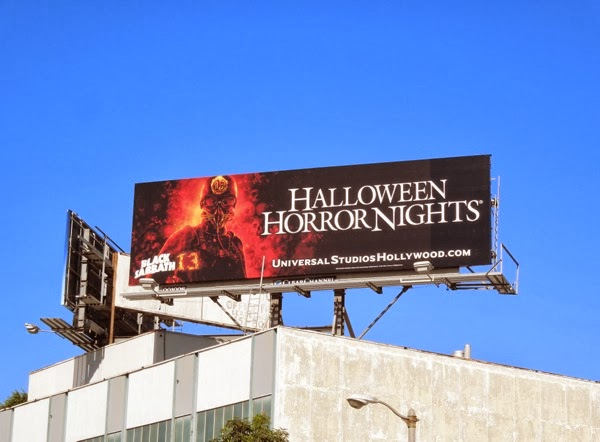 Black Sabbath 13 Halloween Horror Nights billboard