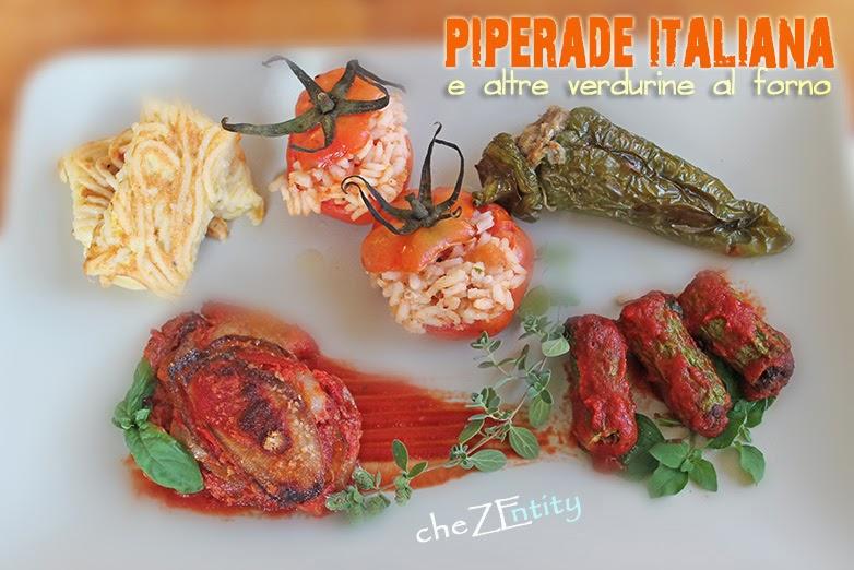 piperade italiana e altre verdurine al forno