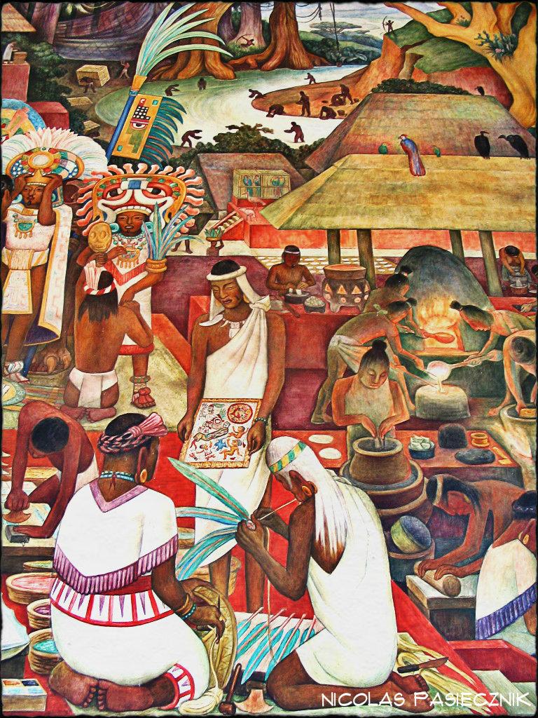 Nicol s pasiecznik fotorreportaje los murales de diego for Diego rivera tenochtitlan mural