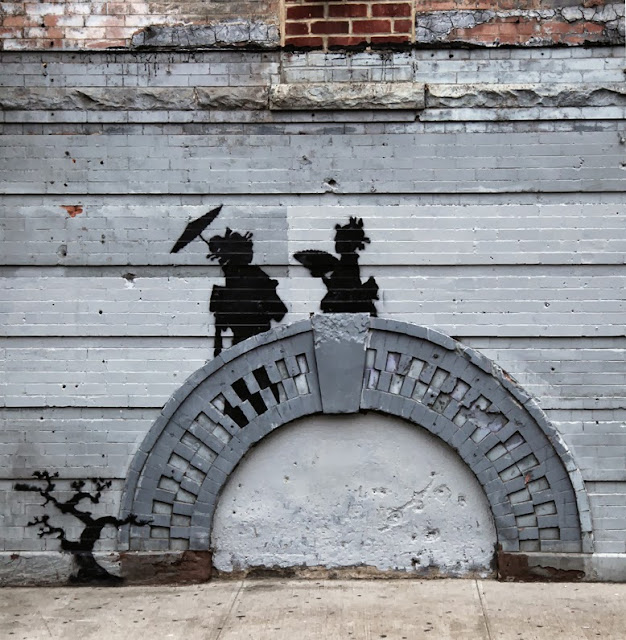 "Banksy ""Better Out Than In"" Day 17 With a new stencil in Bedford-Stuyvesant, Brooklyn."