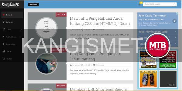 Welcome Back Kang Ismet, mastrigus.com Siap Berguru Kepada mu