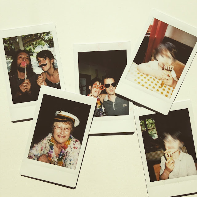 photo famille polaroid tournesol pamplemousse