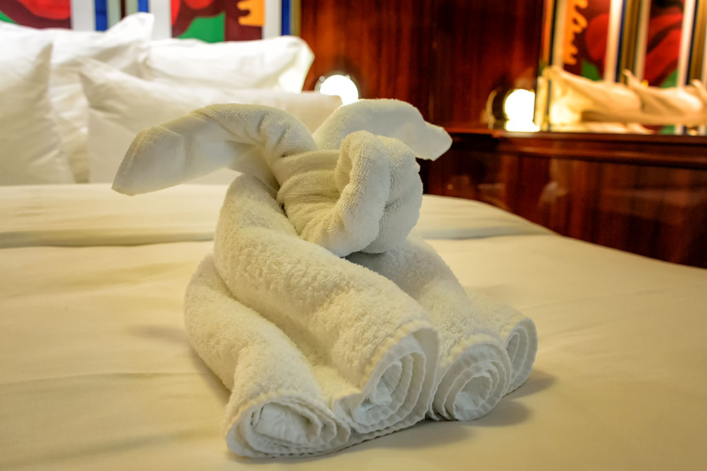 Elephant Towel Animal on the Norwegian Pearl