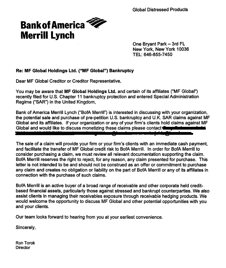 Jesses Caf Am ricain March 2013 – Proof of Funds Letter