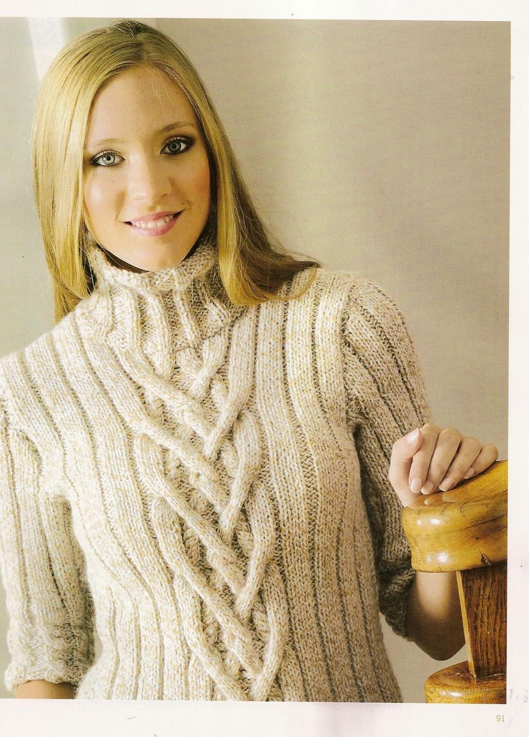 Вязание спицами женские джемпера фото