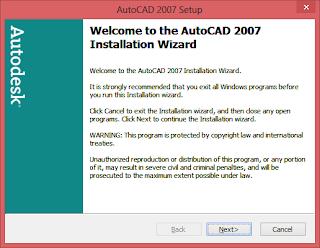 AutoCAD 2007 di Windows 8