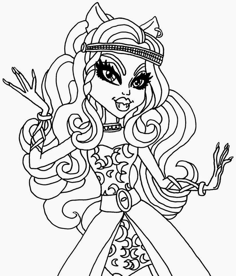 clawdeen wolf monster high coloring pages
