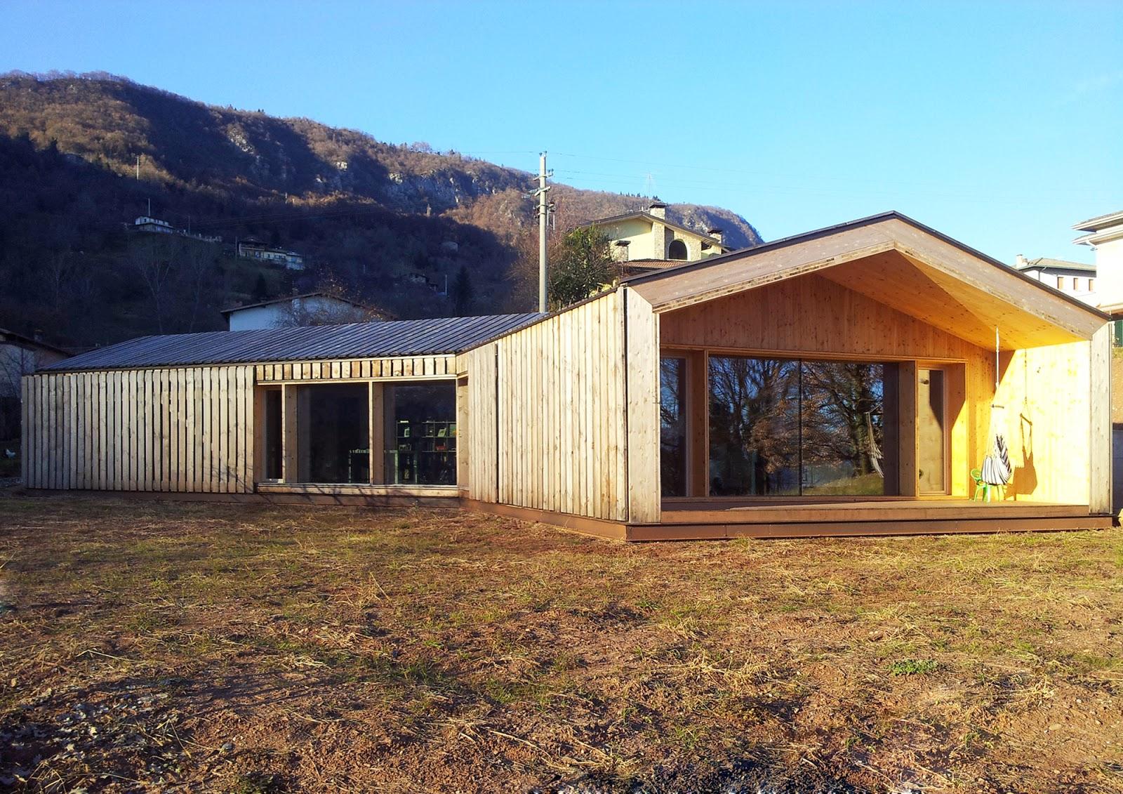 Estudoquarto studio di architettura casa lineare xlam - Costo al mq costruzione casa ...