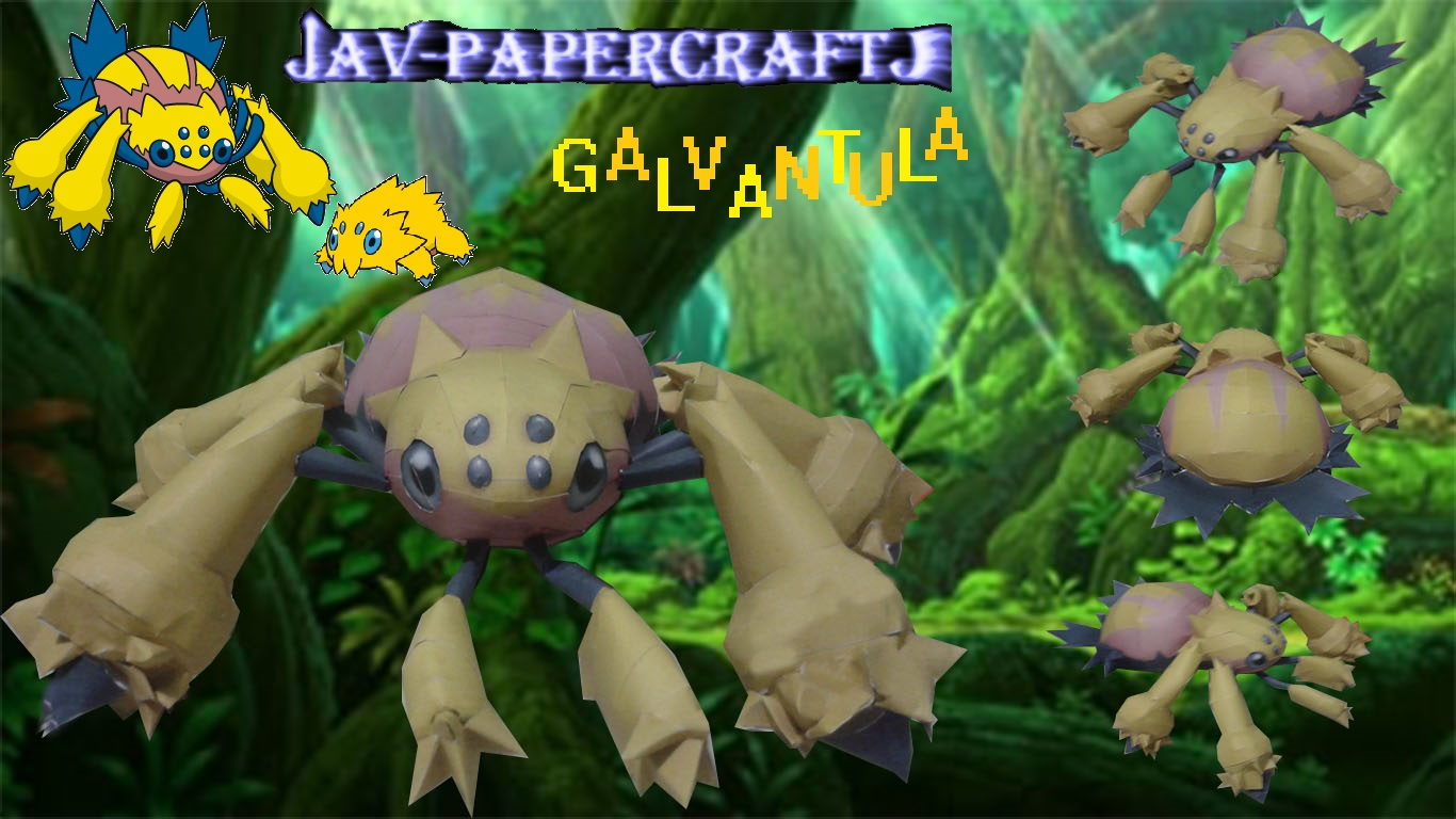 Pokemon Galvantula Papercraft