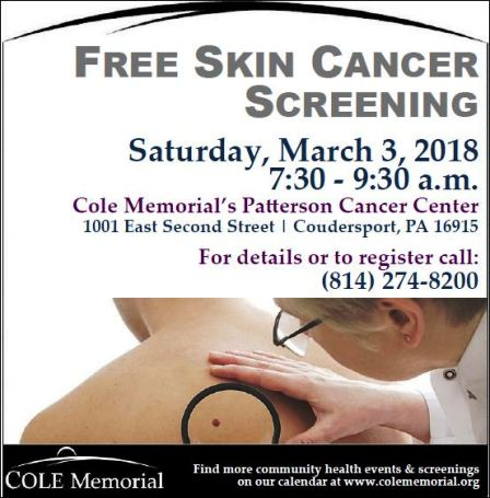 3-3 Free Skin Cancer Screening