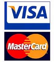 Pague suas encomendas com cartões Mastercard e Visa