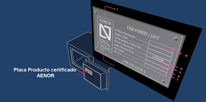 Placa certificado AENOR