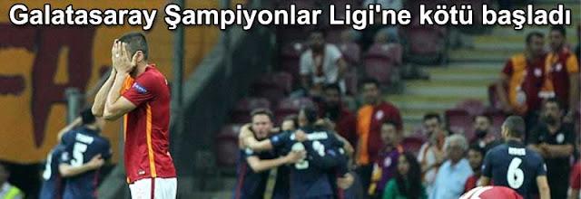 Galatasaray Sampiyonlar Ligine kotu basladi