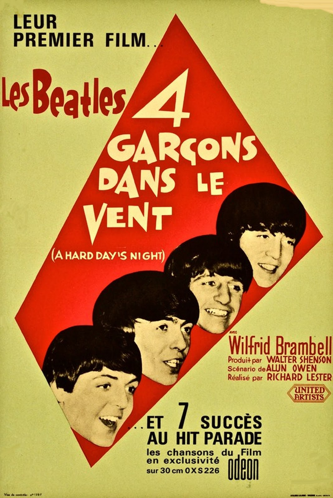 SIXTIES BEAT: The Beatles - French Poster A Hard Dayu0026#39;s Night