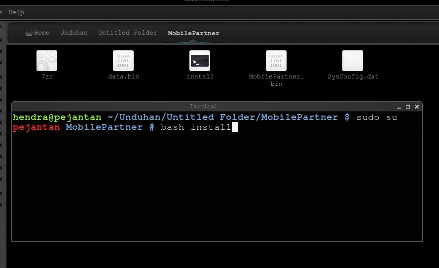 Install Mobile Partner di Ubuntu