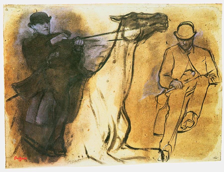 Caballo y jinete, ca. 1867