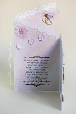 kartka ślubna składaczek card making