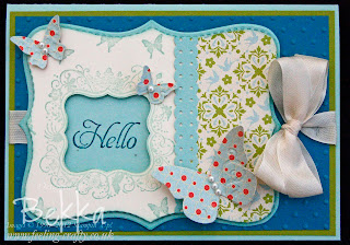 Card with Top Note Tag