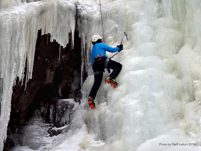 ice climbing, kinsman notch, shamrock