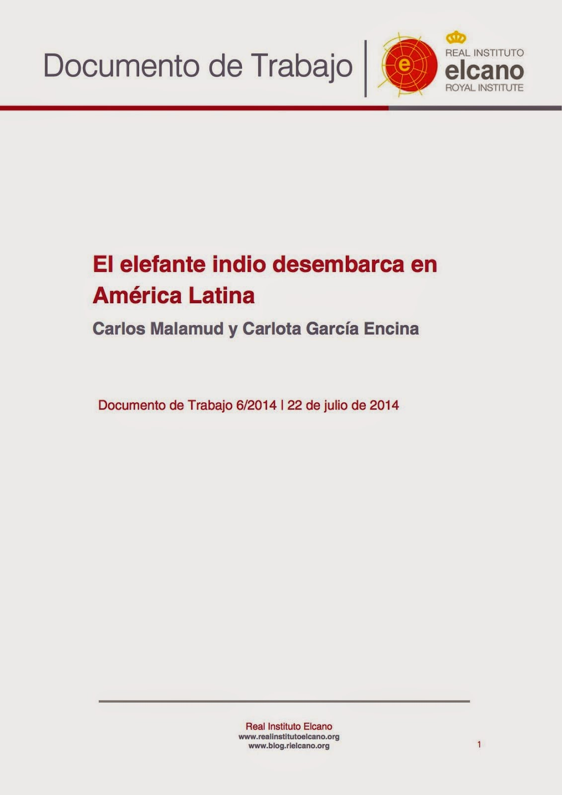 El elefante indio desembarca en América Latina