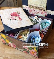 Blomförvaring med mall