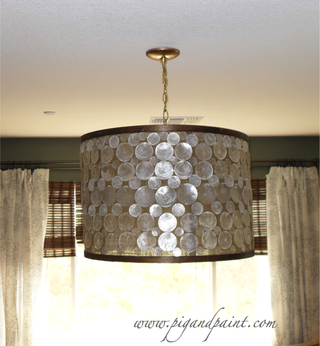 how to make a diy designer capiz drum shade chandelier a la oly studio serena capiz shell chandelier capiz shell lighting fixtures