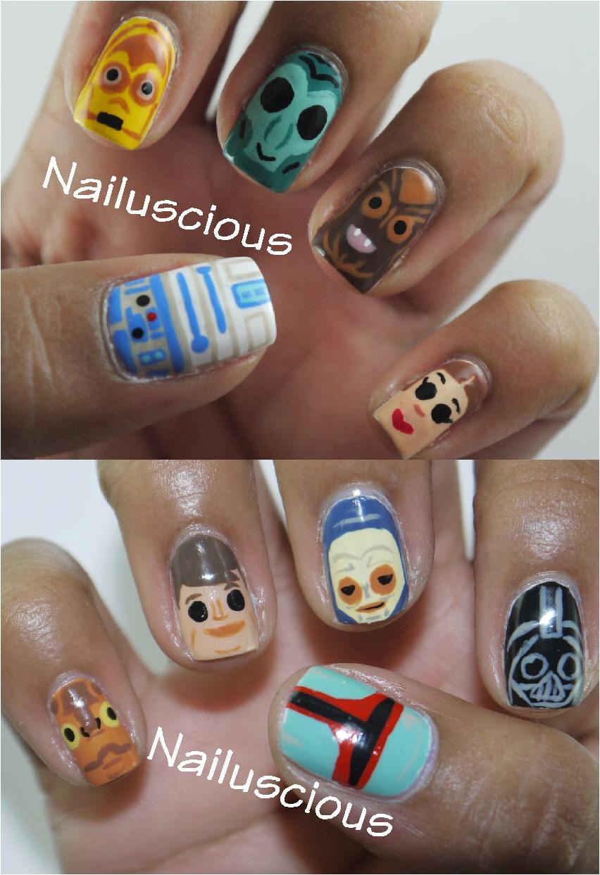 Nailuscious Nailartmay Day 4 Star Wars
